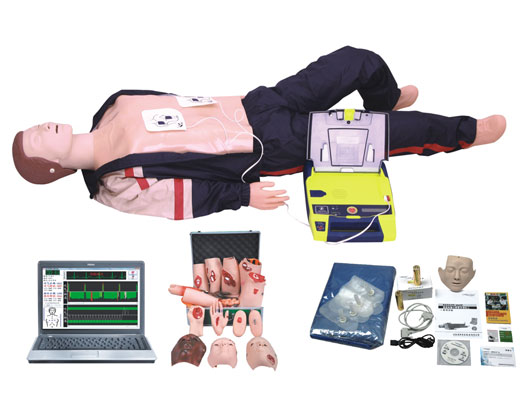 BLS880 电脑高级心肺复苏、AED除颤仪、创伤模拟人(计算机控制,三合一)