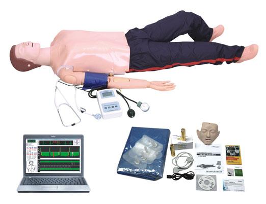 电脑高级功能急救训练模拟人(心肺复苏CPR与血压测量等功能)